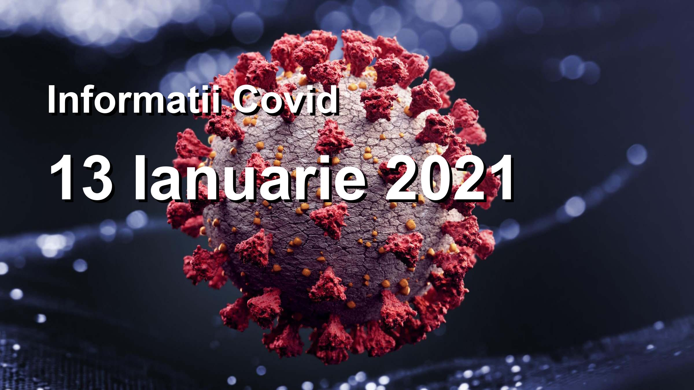 Informatii Covid-19 pentru 13 Ianuarie 2021: 4424 infectari, 33068 teste. | Coronavirus Romania