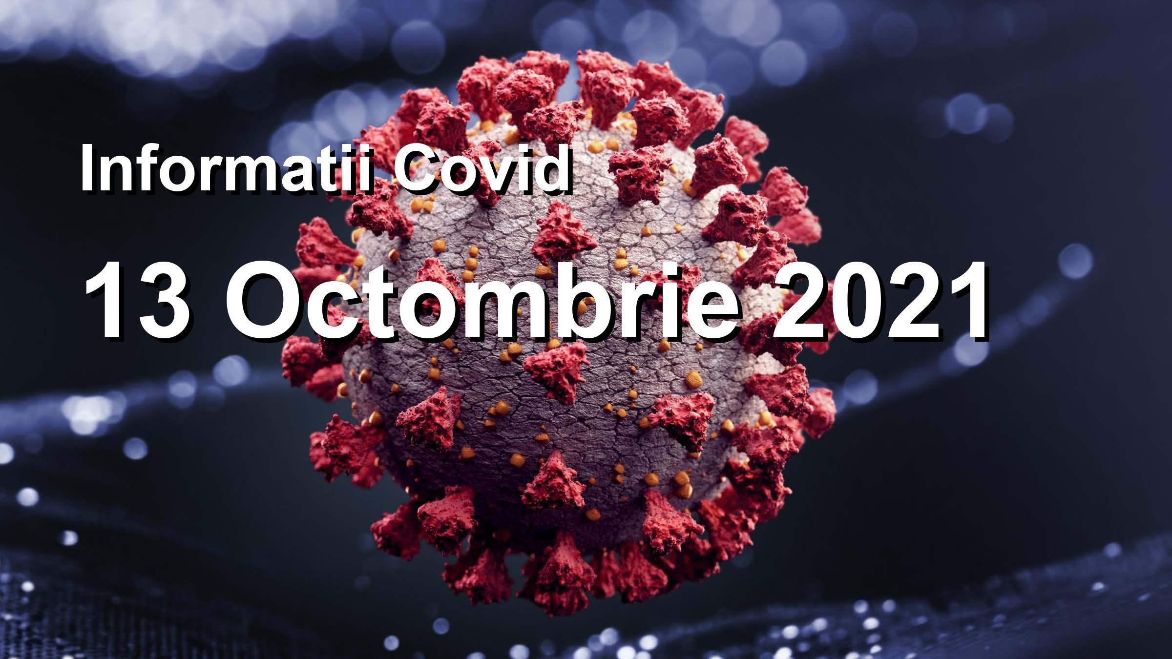 Informatii Covid-19 pentru 13 Octombrie 2021: 15733 infectari, 69845 teste. | Coronavirus Romania