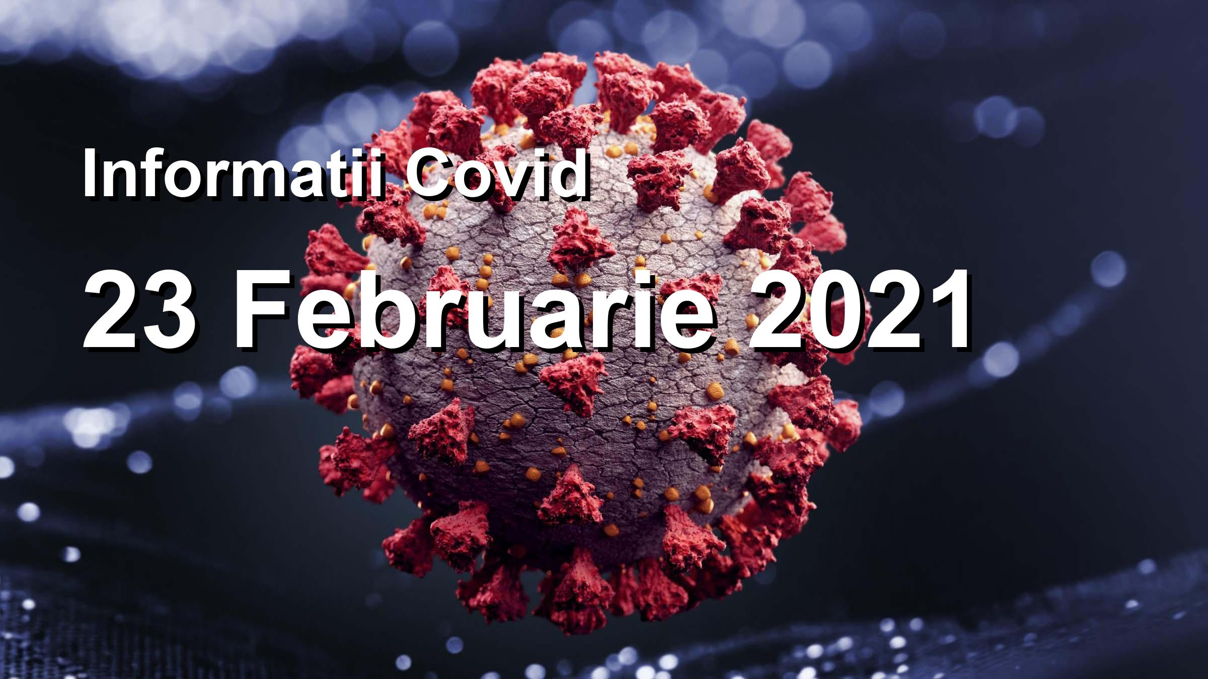 Informatii Covid-19 pentru 23 Februarie 2021: 3382 infectari, 32980 teste. | Coronavirus Romania