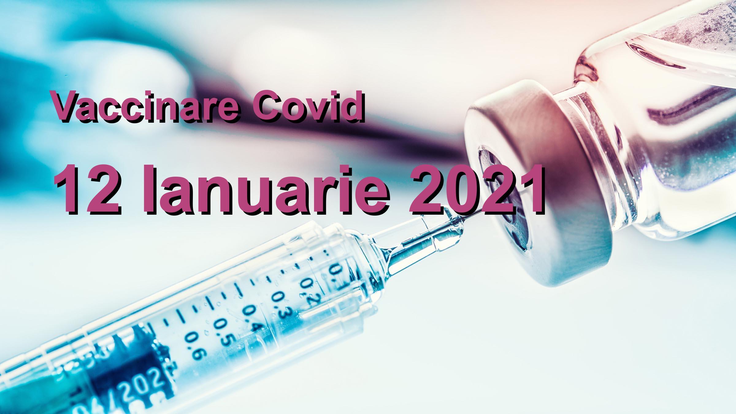 Campanie vaccinare Covid-19 pentru 12 Ianuarie 2021: 15257 noi persoane vaccinate. | Vaccin Covid-19 Romania