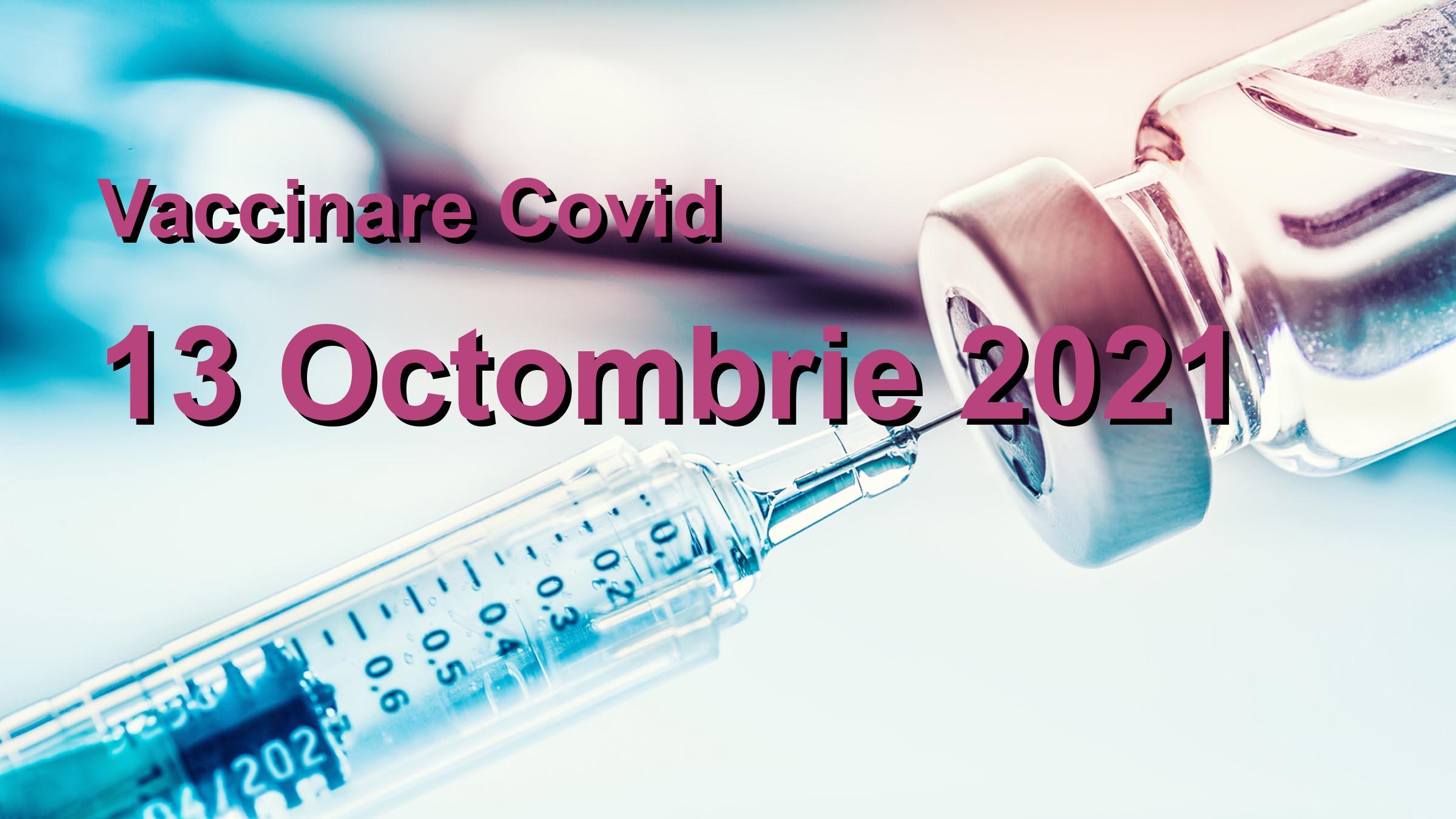 Campanie vaccinare Covid-19 pentru 13 Octombrie 2021: 60126 persoane vaccinate. | Vaccin Covid-19 Romania